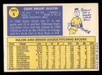 1970 Topps #6  Grant Jackson  Back Thumbnail