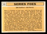 1963 Topps #331  Series Foes    -  Bill Stafford / Bill Pierce Back Thumbnail