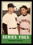 1963 Topps #331  Series Foes    -  Bill Stafford / Bill Pierce Front Thumbnail