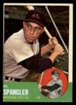 1963 Topps #77  Al Spangler  Front Thumbnail