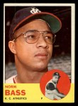 1963 Topps #461   Norm Bass Front Thumbnail