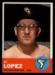 1963 Topps #458   Al Lopez Front Thumbnail