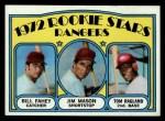 1972 Topps #334   Rangers Rookie Stars    -  Bill Fahey / Jim Mason / Tom Ragland Front Thumbnail
