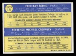 1970 Topps #121  Orioles Rookie Stars  -  Fred Beene / Terry Crowley Back Thumbnail