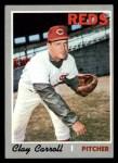 1970 Topps #133   Clay Carroll Front Thumbnail
