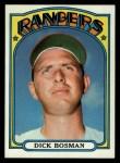 1972 Topps #365  Dick Bosman  Front Thumbnail