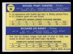 1970 Topps #88  Pilots Rookie Stars  -  Dick Baney / Miguel Fuentes Back Thumbnail