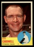 1963 Topps #575   Don Cardwell Front Thumbnail