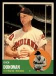 1963 Topps #370   Dick Donovan Front Thumbnail