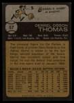 1973 Topps #57  Derrel Thomas  Back Thumbnail