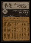 1973 Topps #95  Steve Blass  Back Thumbnail