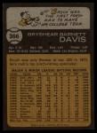 1973 Topps #366   Brock Davis Back Thumbnail