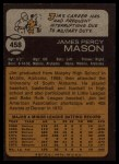 1973 Topps #458   Jim Mason Back Thumbnail