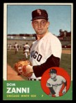 1963 Topps #354   Dom Zanni Front Thumbnail