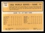 1963 Topps #146   -  Tom Tresh 1962 World Series - Game #5 - Tresh's Homer Defeats Giants Back Thumbnail