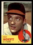 1963 Topps #346   Billy Hoeft Front Thumbnail