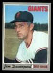 1970 Topps #378   Jim Davenport Front Thumbnail