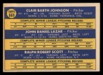 1970 Topps #669  White Sox Rookie Stars  -  Bart Johnson / Dan Lazar / Mickey Scott Back Thumbnail