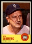 1963 Topps #134   Bob Scheffing Front Thumbnail