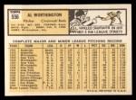 1963 Topps #556  Al Worthington  Back Thumbnail