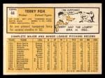 1963 Topps #44   Terry Fox Back Thumbnail