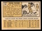 1963 Topps #554  Hank Fischer  Back Thumbnail