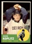 1963 Topps #406   Howie Koplitz Front Thumbnail