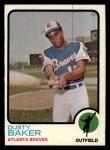 1973 Topps #215   Dusty Baker Front Thumbnail