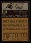 1973 Topps #387  Jim Barr  Back Thumbnail