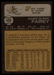 1973 Topps #429   Jim Fairey Back Thumbnail