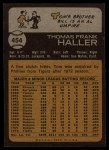 1973 Topps #454  Tom Haller  Back Thumbnail