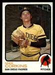 1973 Topps #461   Mike Corkins Front Thumbnail