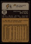 1973 Topps #467   Mike Ryan Back Thumbnail