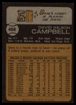1973 Topps #488   Dave Campbell Back Thumbnail