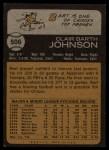 1973 Topps #506   Bart Johnson Back Thumbnail
