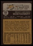 1973 Topps #164   Monty Montgomery Back Thumbnail