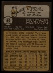 1973 Topps #166   Terry Harmon Back Thumbnail