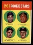 1963 Topps #54 COR  -  Dave DeBusschere / Nelson Matthews / Harry Fanok / Jack Cullen  Rookies  Front Thumbnail