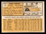 1963 Topps #122   Julio Gotay Back Thumbnail