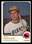 1973 Topps #2  Rich Hebner  Front Thumbnail