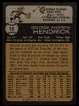 1973 Topps #13   George Hendrick Back Thumbnail