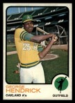 1973 Topps #13   George Hendrick Front Thumbnail