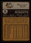 1973 Topps #39   Dave Roberts Back Thumbnail