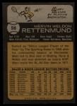 1973 Topps #56   Merv Rettenmund Back Thumbnail
