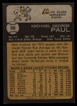 1973 Topps #58   Mike Paul Back Thumbnail