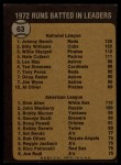 1973 Topps #63  RBI Leaders  -  Johnny Bench / Rich Allen Back Thumbnail