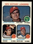 1973 Topps #66  Victory Leaders  -  Steve Carlton / Gaylord Perry / Wilbur Wood Front Thumbnail