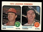 1973 Topps #68  Leading Firemen  -  Clay Carroll / Sparky Lyle Front Thumbnail