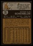 1973 Topps #78  Richie Scheinblum  Back Thumbnail