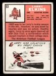 1966 Topps #53   Larry Elkins Back Thumbnail
